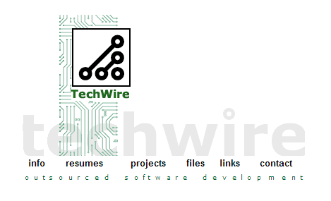 TechWire site 1999-2000, front page