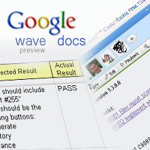 Using Google services (Wave, Docs) in daily QA process